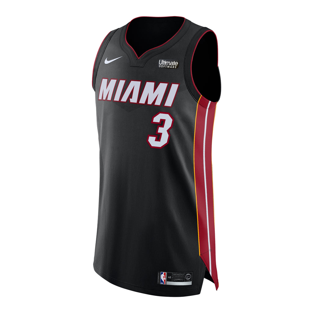 Dwyane Wade Nike Icon Black Authentic Jersey - featured image
