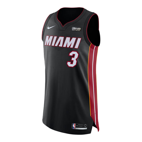 Dwyane Wade Nike Icon Black Authentic Jersey