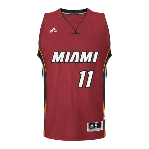 Dion Waiters Miami HEAT adidas Road Swingman Jersey Red