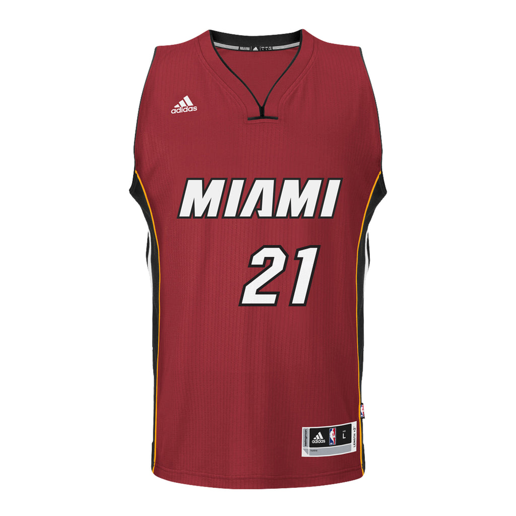 Hassan Whiteside Miami HEAT adidas Road Swingman Jersey Red - featured image