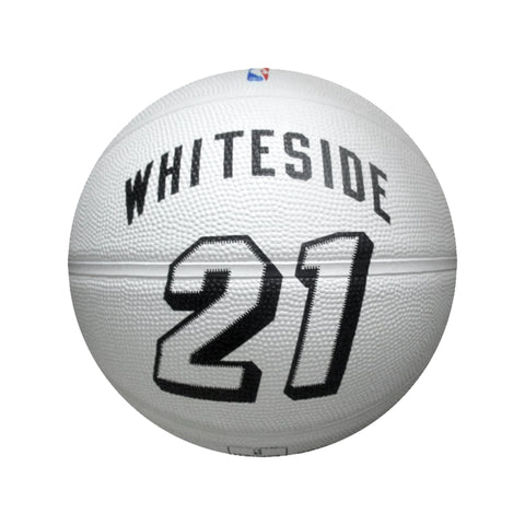 Miami HEAT White Tie Whiteside Spalding Basketball