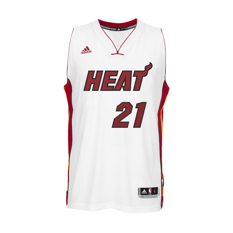 Hassan Whiteside Miami HEAT adidas Home Swingman Jersey White