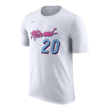 Justise Winslow Nike Miami HEAT Vice Uniform City Edition Name & Number Tee - 1