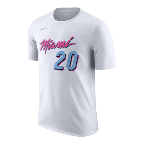 Justise Winslow Nike Miami HEAT Vice Uniform City Edition Name & Number Tee