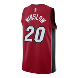 Justise Winslow Nike Miami HEAT Youth Statement Red Swingman Jersey - 2