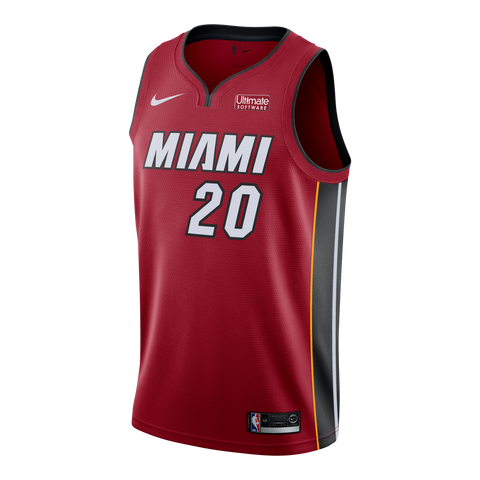 Justise Winslow Nike Miami HEAT Road Youth Swinman Jersey Red