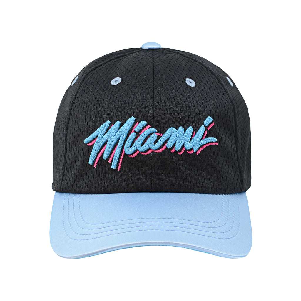 Miami HEAT Vice Nights Youth Satin Mesh Slouch Hat - featured image