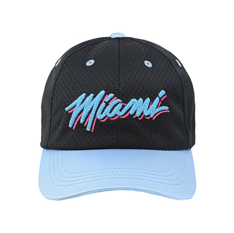 Miami HEAT Vice Nights Youth Satin Mesh Slouch Hat