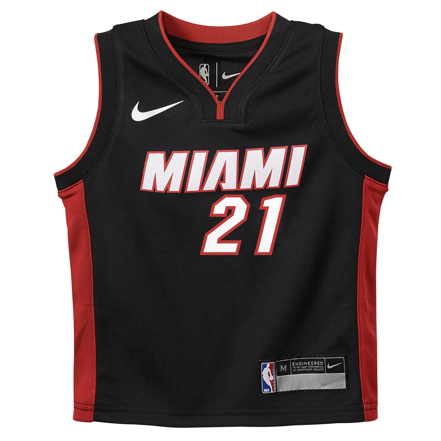 b5b368a89 Hassan Whiteside Nike Miami HEAT Kids Replica jersey Black - featured image