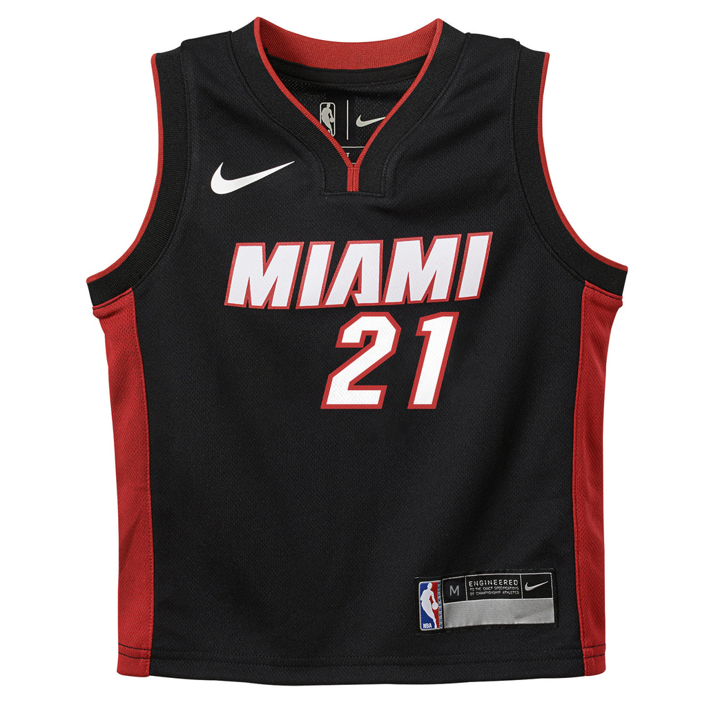 Hassan Whiteside Nike Miami HEAT Kids Black Replica Jersey - featured image