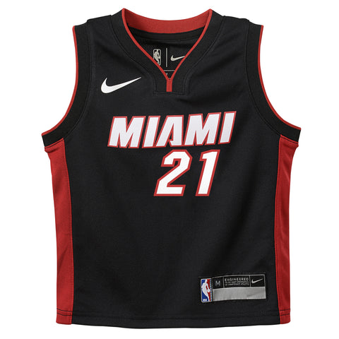 Hassan Whiteside Nike Miami HEAT Kids Black Replica Jersey