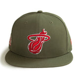 New ERA New Era Miami HEAT Home Strong Fitted Hat - 1