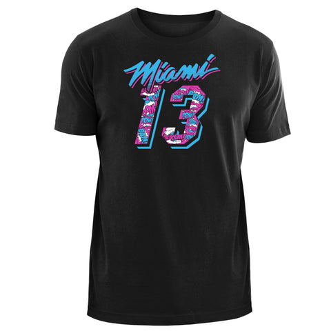 New Era Bam Adebayo Vice Name & Number Tee