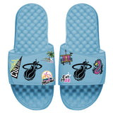 Islide Allover Patch Blue Sandals - 1