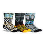 PKWY Dwyane Wade Remix Collision of Course 3 Pack Socks - 1
