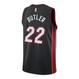 Jimmy Butler Nike Miami HEAT Icon Black Swingman Jersey - 2