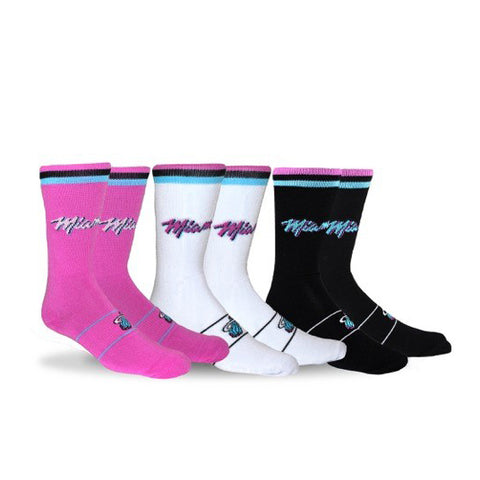 Stance Miami HEAT Vice Nights 3 Pack Socks