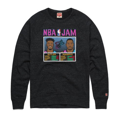 Homage ViceVersa Butler & Adebayo NBA Jam Crewneck Sweater