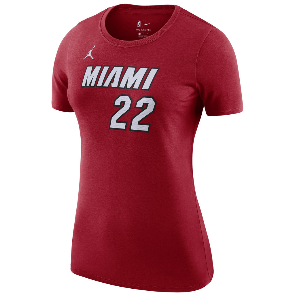 Jimmy Butler Jordan Brand Statement Red Name & Number Ladies Tee - featured image