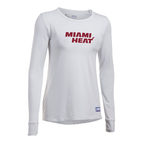 f590606a7aea Under Armour Miami HEAT Ladies Long Sleeve Favorites Tee