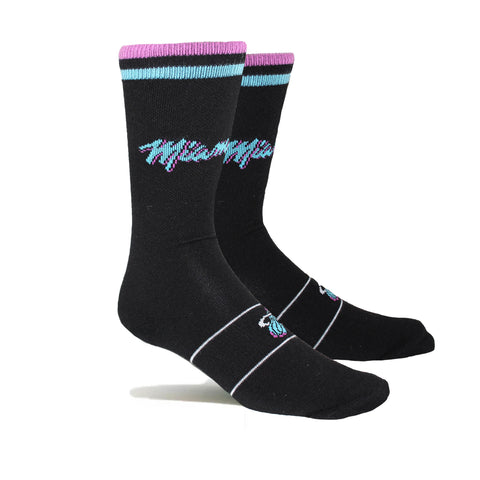 Stance Miami HEAT Vice Nights Black Socks