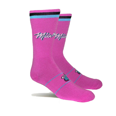 Stance Miami HEAT Vice Nights Fuscia Socks