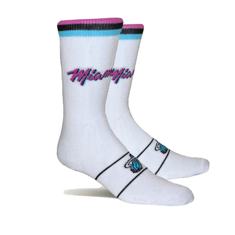 Stance Miami HEAT Vice Nights White Socks