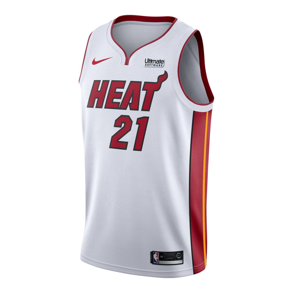 Hassan Whiteside Nike Miami HEAT Youth Association White Swingman Jersey - featured image
