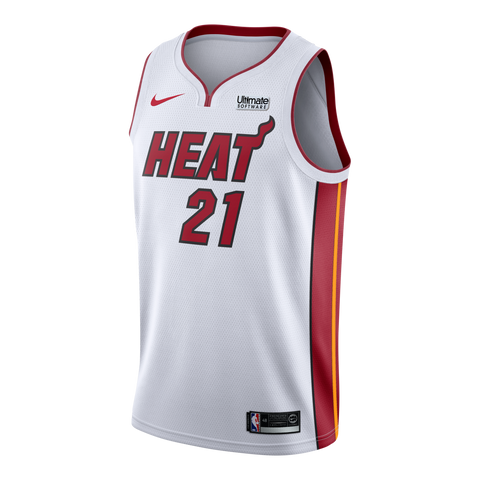 Hassan Whiteside Nike Miami HEAT Home Swingman Jersey White