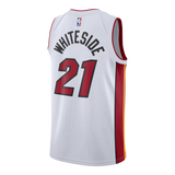 Hassan Whiteside Nike Miami HEAT Youth Association White Swingman Jersey - 2
