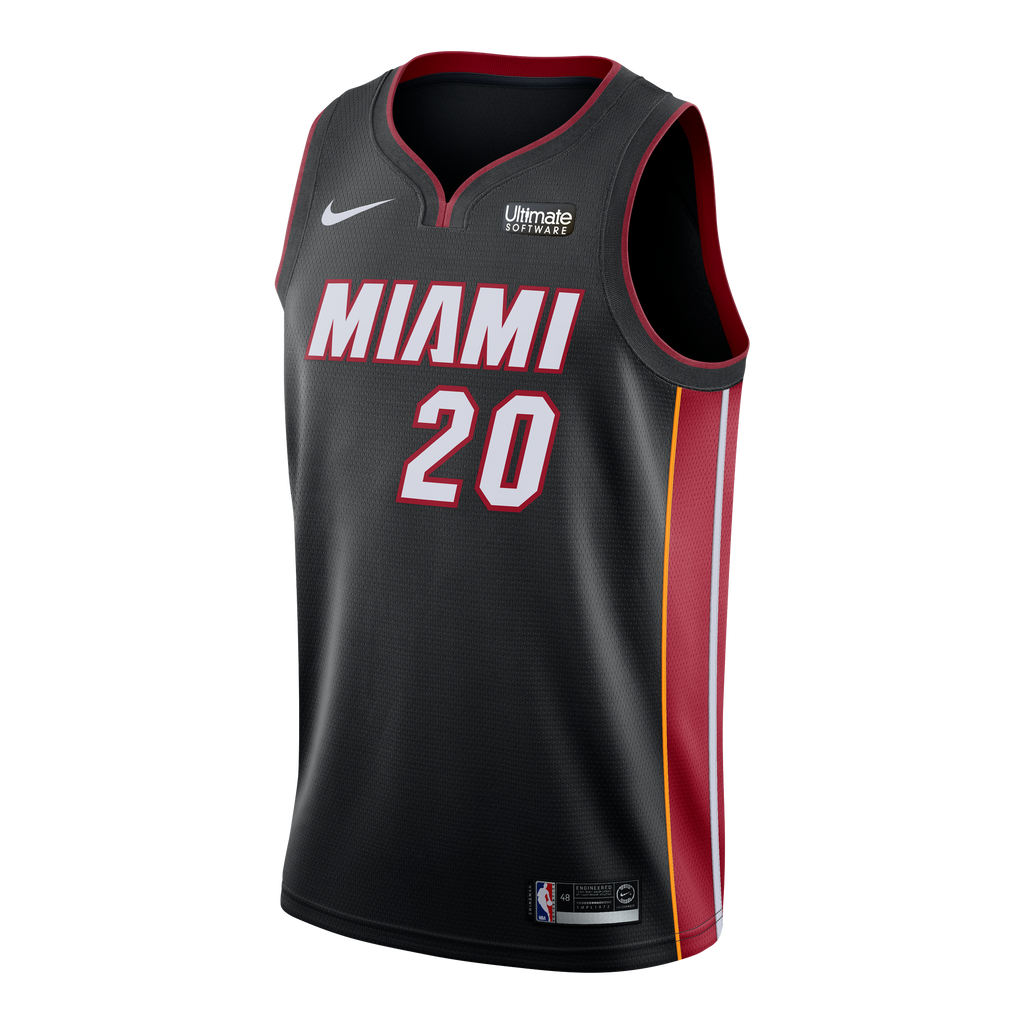 Justise Winslow Nike Miami HEAT Youth Road Swingman Jersey Black - featured image