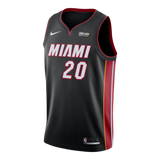 Justise Winslow Nike Miami HEAT Home Swingman Jersey Black - 1