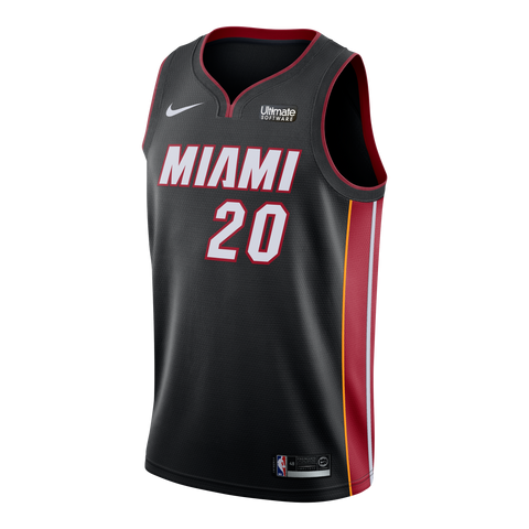 Justise Winslow Nike Miami HEAT Home Swingman Jersey Black