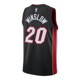 Justise Winslow Nike Miami HEAT Home Swingman Jersey Black - 2
