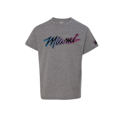 Miami Heat ViceVersa Grey Youth Tee