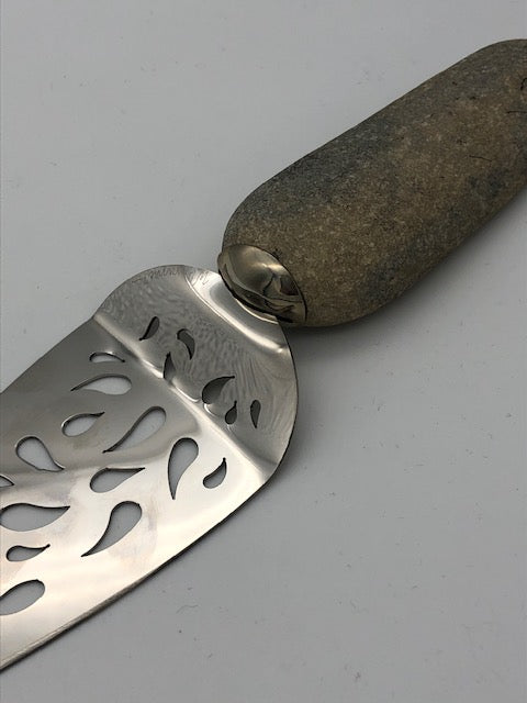 Wendolyn Hammer Stainless and Stone Cake Server