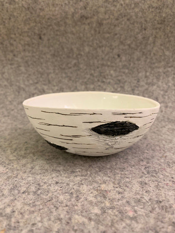 K. Allison Ceramics Birch Bark Snack Bowl