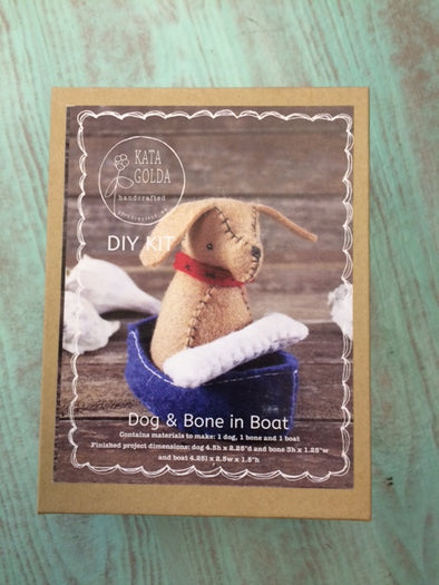 Kata Golda Handcrafted Dog & Bone in Boat