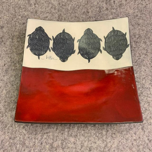 Sally Jaffee - 7x7 Turtle Plate