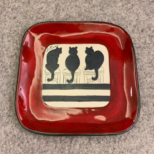 Sally Jaffee - Cats Salad Plate