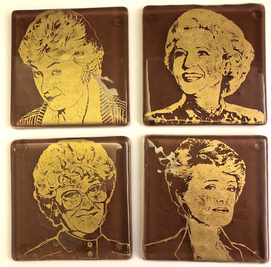 Kiku Handmade Golden Girl Coaster Set