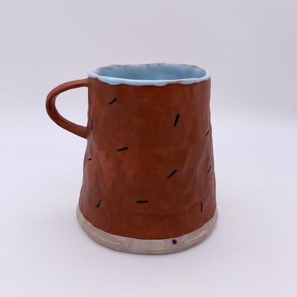 Didem Mert Peach and Blue Mug