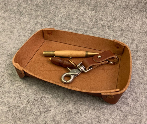 Jay Teske Leather Accessory Tray