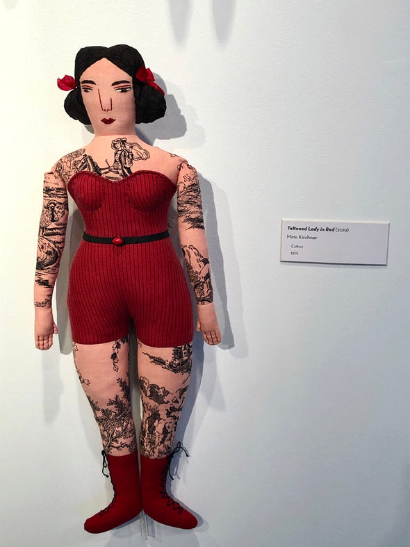 Mimi Kirchner Tattooed Lady in Red (2019)
