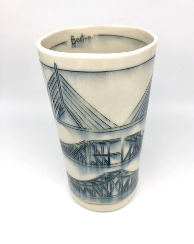 Nicole Aquillano 3 Boston Bridges Tall Vase
