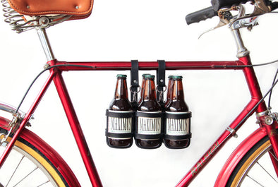 Jay Teske Leather Bicycle Beer Carrier