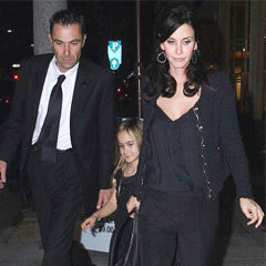 Courteney Cox in Meredith Marks Mary Teardrop Earrings