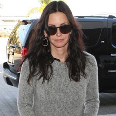 Courteney Cox in Meredith Marks Mary Teardrop Earring