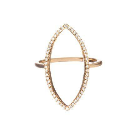 Mary Navette Ring Rose Gold