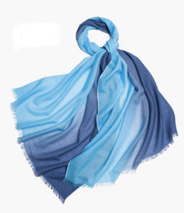 Michelle Scarf Dark and Light Blue